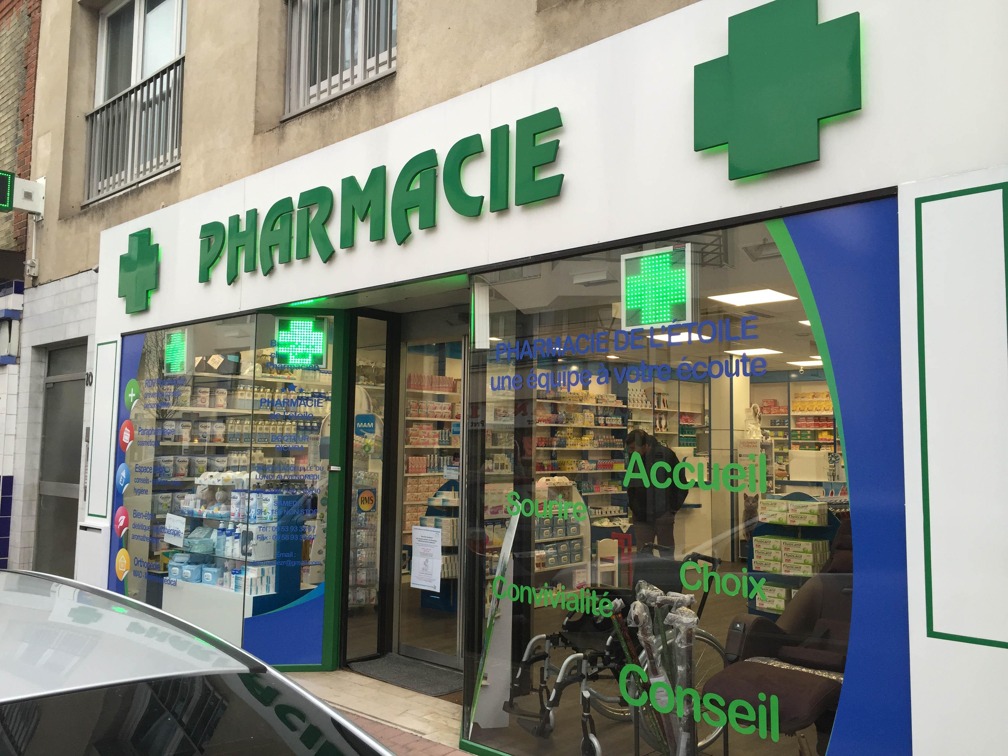 croix led pharmacie